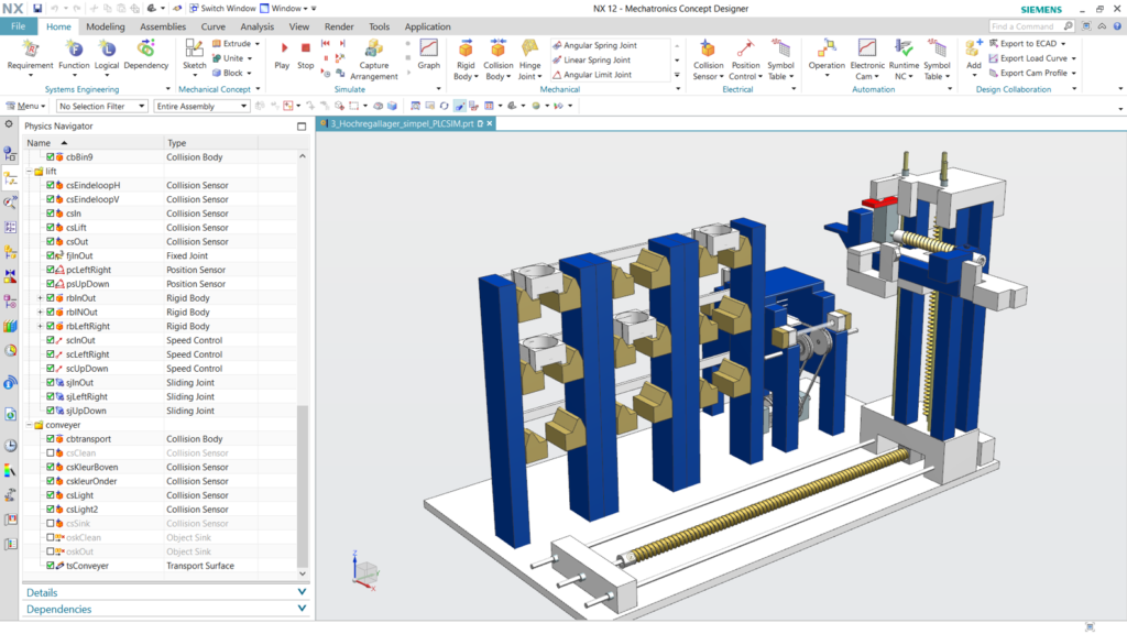 NX Siemens CAD software